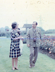 England 1968: Mary Wise and Herman Buss at the inauguration of the World Federation of Rose Societies