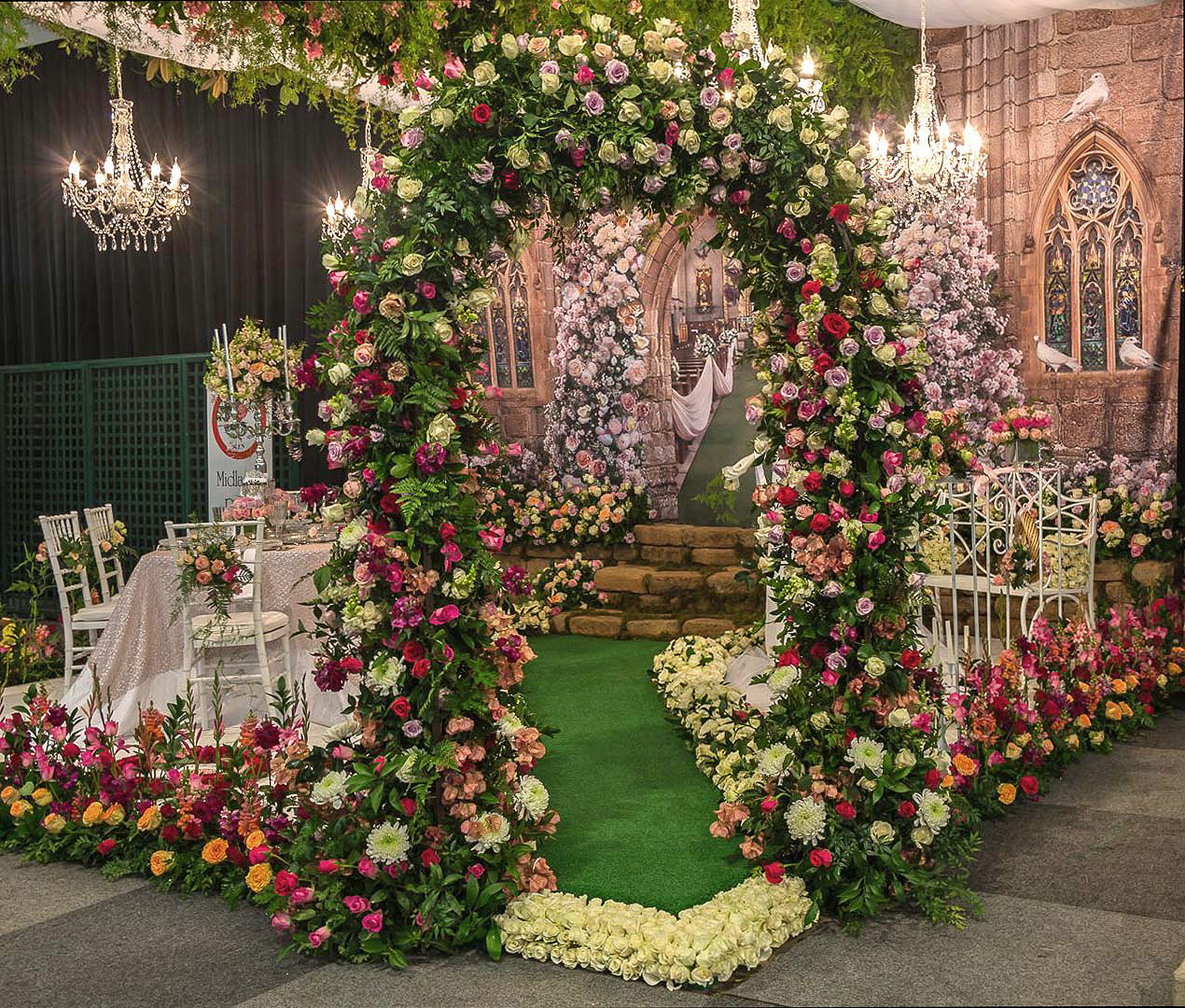 Floral arch at Garden Show